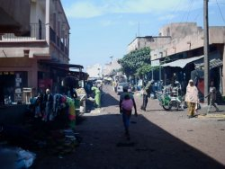 Market place in Djélibougou – behind the AME office
