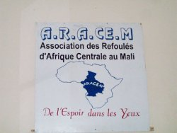 "Visit with the ARACEM (Organization of Central African Deportees in Mali): ""Of hope in their eyes"""